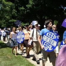 prochoice marchers